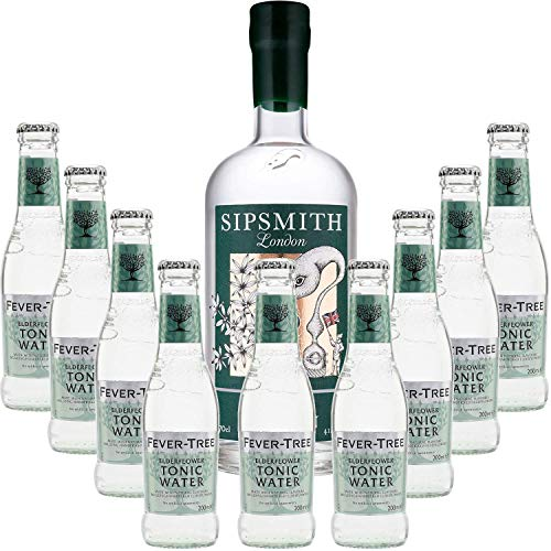 Pack Gintonic - Sipsmith Gin + 9 Fever Tree Holunder Water - (70cl 20cl * + 9) von ProvencePremiumRosé