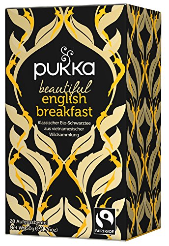 Beautiful English Breakfast PUKKA Tee BIO 4 Packungen à 20 Teebeutel von Pukka
