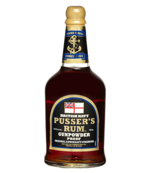 Pusser's Black Label Rum Gunpowder Proof (54,5 % Vol., 0,7 Liter) von Pusser's Rum Ltd.