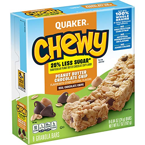 Quaker Chewy Low Sugar Peanut Butter Chocolate Chip Granola Bars - 8ct von Quaker