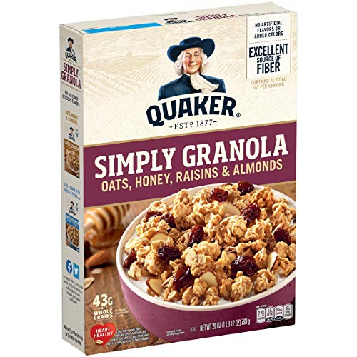 Quaker Granola Oats, Honey, Raisins, and Almonds - 28oz von Quaker