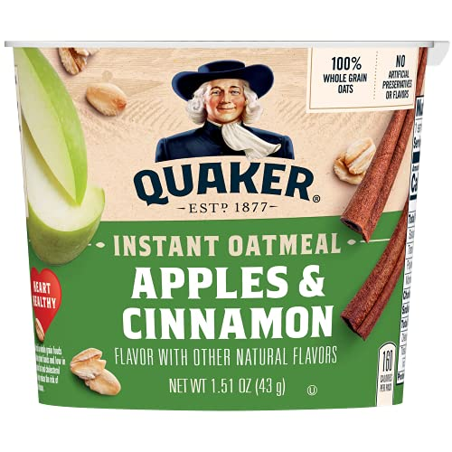 Quaker Instant Oatmeal Cup Apple Cinnamon 1.51oz von Quaker