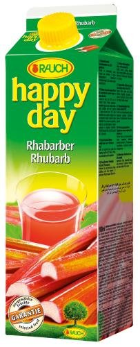 Rauch Happy Day Rhabarber, 6er Pack (6 x 1 l Packung) von Happy Day