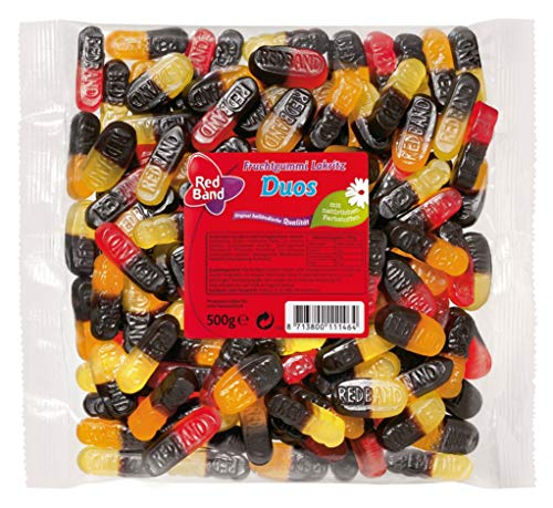 Red Band Fruchtgummi-Lakritz-Duos 500g von Red Band