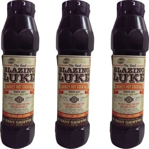The Real Blazing Luke Barbecue Sauce Smokey Hot Cocktail 3 Flaschen á 750ml (Grill-Sauce) von Remia