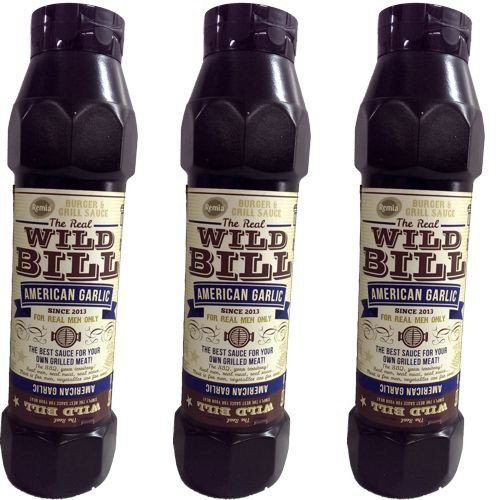 The Real Wild Bill Barbecue Sauce American Garlic 3 Flaschen á 750ml (Grill-Sauce) von Remia