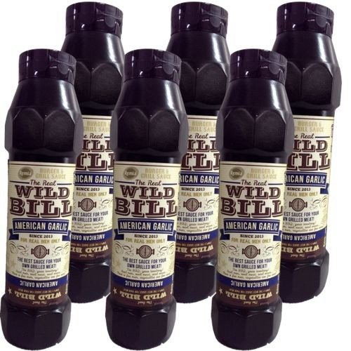 The Real Wild Bill Barbecue Sauce American Garlic 6 Flaschen á 750ml (Grill-Sauce) von Remia