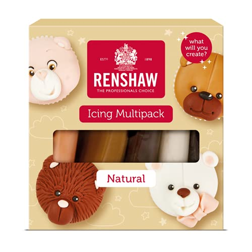 Renshaw Rolfondant Pro Multipack Natural Colours, 5x 100 g. 500 g. von Renshaw
