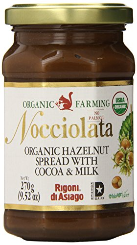 Rigoni Di Asiago Nocciolata Organic Hazelnut Spread, Cocoa and Milk, 9.52 Ounce Jar (Pack of 6) von Rigoni di Asiago