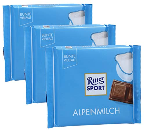 Ritter Sport Alpenmilch (3 Bars each 100g) - fresh from Germany by Ritter Sport von Ritter Sport