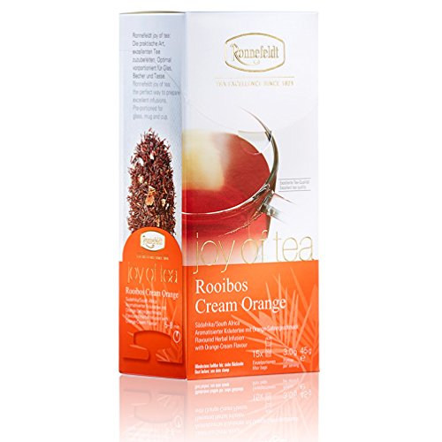 "Ronnefeldt Rooibos Cream Orange ""joy of tea"" - Kräutertee mit Orange-Sahnegeschmack, 15 Teebeutel, 45 g von Ronnefeldt"