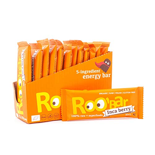 Roobar Superfoods Inca Berry Bar with Organic & Vegan Ingredients for Gluten & Dairy Free experience, 12 x 30g in a box, 360 g von Roo'Bar