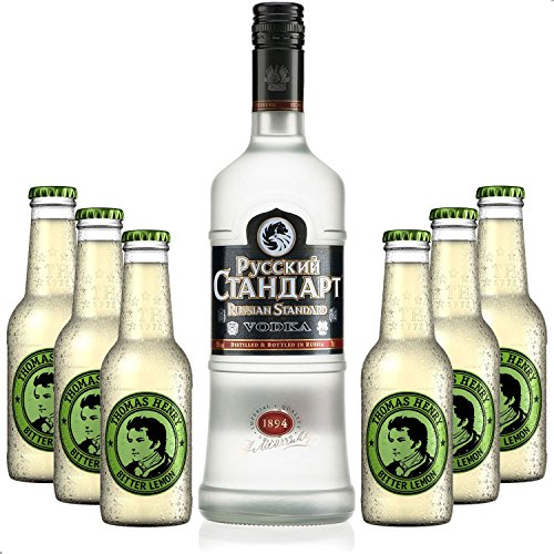 Vodka Lemon Set - Russian Standard Vodka 0,7l 700ml (40% Vol) + 6x Thomas Henry Bitter Lemon 200ml - Inkl. Pfand MEHRWEG von Thomas Henry-Thomas Henry