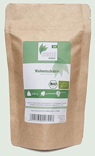 SENA-Herbal Bio - geschnittene Walnussschalen- (100g) von SENA-HERBAL