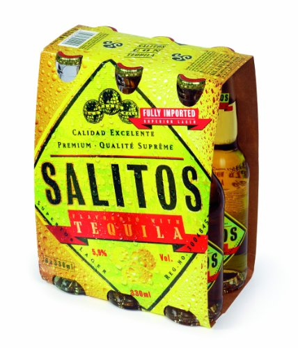 6 Flaschen Salitos Tequila Imported 0,33L Mix 5.9% vol. inc. Pfand von Salitos
