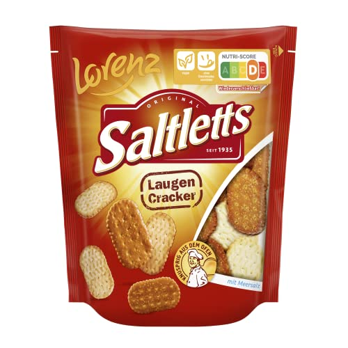 Lorenz Snack World Saltletts Laugencracker, 12er Pack (12 x 150 g) von Lorenz Snack World