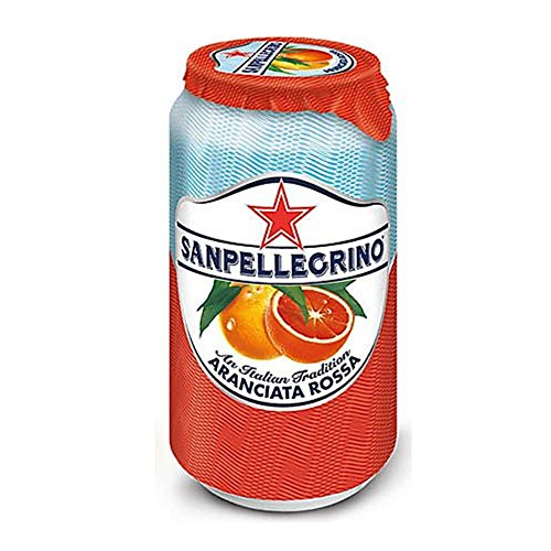 San Pellegrino Sparkling Fruit Beverages From Italy, Aranciata Rossa (Blood Orange) 11.5 Fl Oz (330ml) Cans, Pack of 12 by San Pellegrino von San Pellegrino