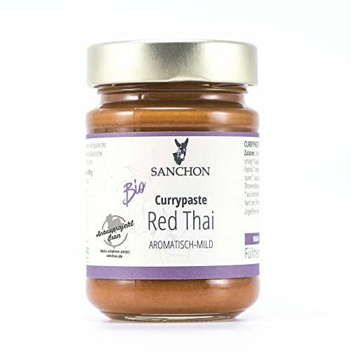 Sanchon Bio Red Thai Curry Paste (6 x 190 gr) von Sanchon