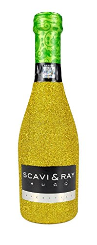 Scavi & Ray Hugo Aperitivo 20cl (6% Vol) - Bling Bling Glitzerflasche in gold -[Enthält Sulfite] von Scavi & Ray