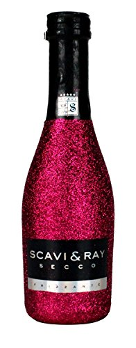 Scavi & Ray Secco Frizzante Piccolo 0,2l (10,5% Vol) Bling Bling Glitzerflasche in hot pink -[Enthält Sulfite] von Scavi & Ray