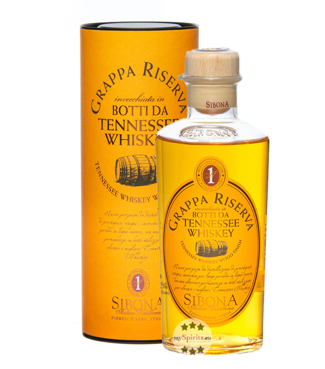 Sibona Grappa Riserva Botti da Tennessee Whiskey (40 % Vol., 0,5 Liter) von Sibona Antica Distilleria