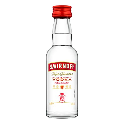 Smirnoff Vodka No. 21 Red Label 5 cl Pet MINIATUR von Smirnoff