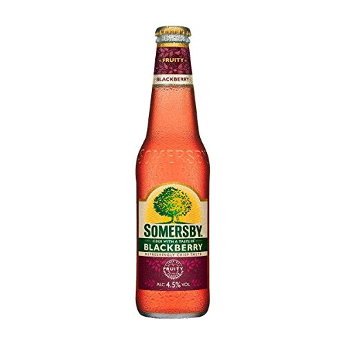 24 Flaschen Somersby Blackberry Cider a 330ml Glas 4,5% Vol. Brombeeraroma von Somersby