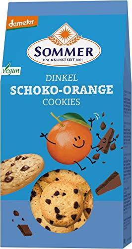 Sommer & Co. Bio Demeter Dinkel Schoko-Orange Cookies, vegan (1 x 150 gr) von Sommer & Co.