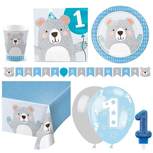 Birthday Bear 1st Birthday Party Pack - Deluxe Kit for 16 von Stef Chef Party
