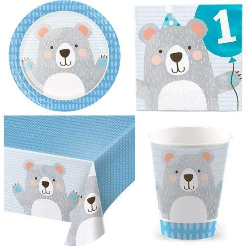 Birthday Bear 1st Birthday Party Pack - Value Kit for 8 von Stef Chef Party