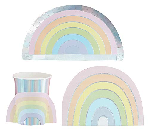 Ginger Ray Pastel Party Rainbow Party Pack - 8 Guests von Stef Chef Party
