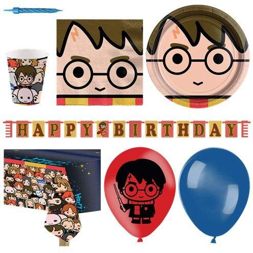 Harry Potter Party Tableware Supplies Plates Cups Napkins Balloon Party Pack for 16 von Stef Chef Party