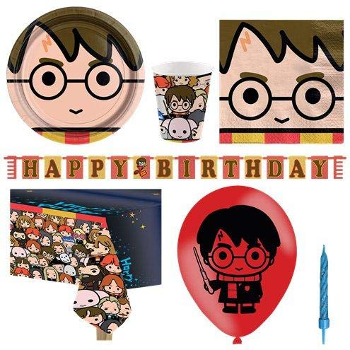 Harry Potter Party Tableware Supplies Plates Cups Napkins Balloon Party Pack for 8 von Stef Chef Party