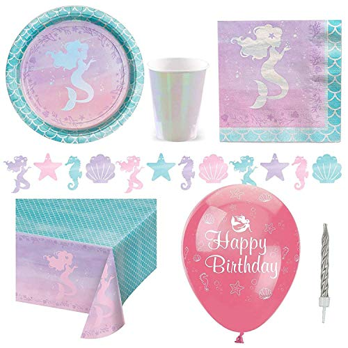 Mermaid Shine Deluxe Party Pack - Pack for 8 von Stef Chef Party