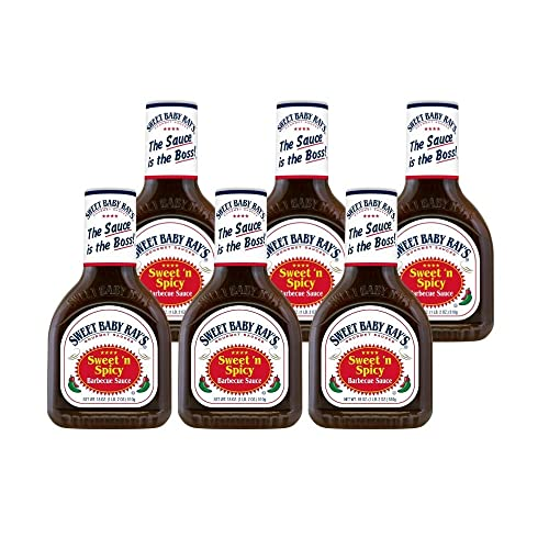 Sweet Baby Ray Sweet & Spicy BBQ Sauce 510g, 6er Pack (6 x 510 g) von Sweet Baby Ray