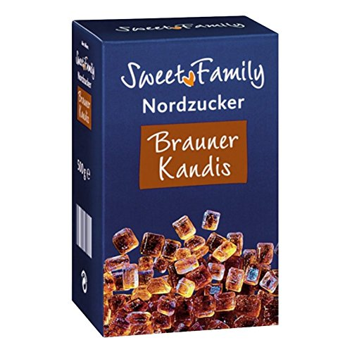 Sweet Family Brauner Kandis, 500g 1er Pack von Sweet Family