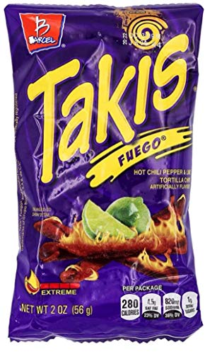 Bracel, Takis, Fuego Hot Chili Pepper & Lime Tortilla Chips, 9.9-Ounce Bag (P... by Takis von Takis