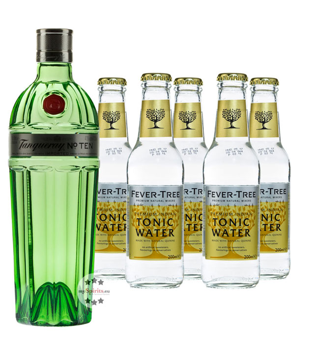 Tanqueray No. 10 Gin & Fever-Tree Tonic Set (47,3 % vol., 1,7 Liter) von Tanqueray