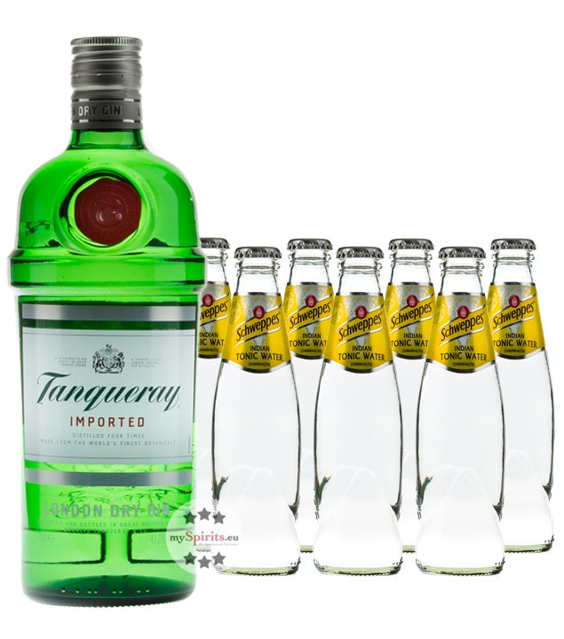 Tanqueray No. 10 Gin & Gents Tonic Set (47,3 % vol., 1,7 Liter) von Tanqueray