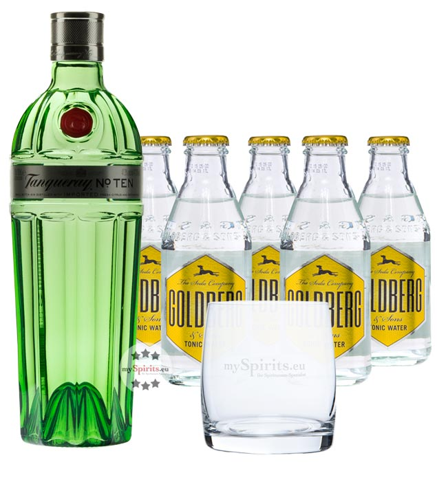 Tanqueray No. 10 Gin & Goldberg Tonic Set (47 % Vol., 1,7 Liter) von Tanqueray