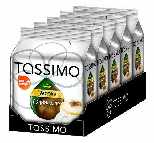 Tassimo Jacobs Krönung Cappuccino , 5er Pack (5 x 8 Portionen) von Tassimo