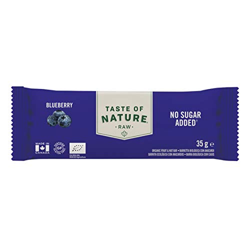 Taste of Nature Organic Raw Bar Blueberry, 35 g von Taste of Nature