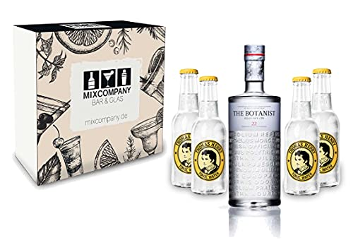 Gin Tonic Set/Geschenkset ? The Botanist Islay Dry Gin 0,7l 700ml (46% Vol) + 4x Thomas Henry Tonic Water 200ml - Inkl. Pfand MEHRWEG von Thomas Henry-Thomas Henry