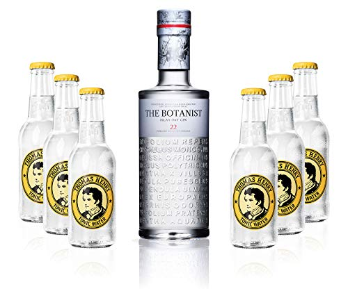 Gin Tonic Set - The Botanist Islay Dry Gin 0,7l 700ml (46% Vol) + 6x Thomas Henry Tonic Water 200ml inkl. Pfand MEHRWEG von Thomas Henry-Thomas Henry