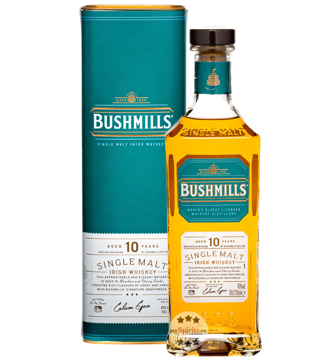 Bushmills 10 Jahre Single Malt Irish Whiskey (40 % Vol., 0,7 Liter) von The Old Bushmills Distillery & Co