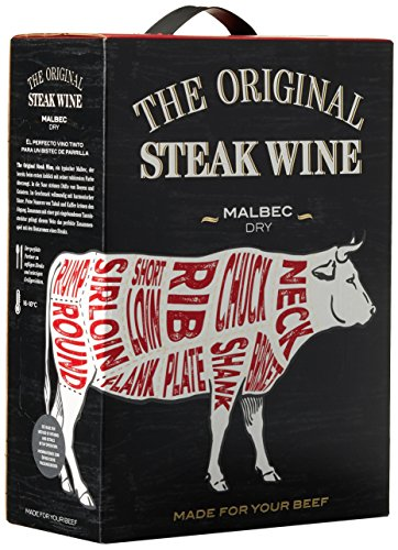 The Original Steak Wine Malbec 2015/2016 Trocken (1 x 3 l) von The Original Steak Wine