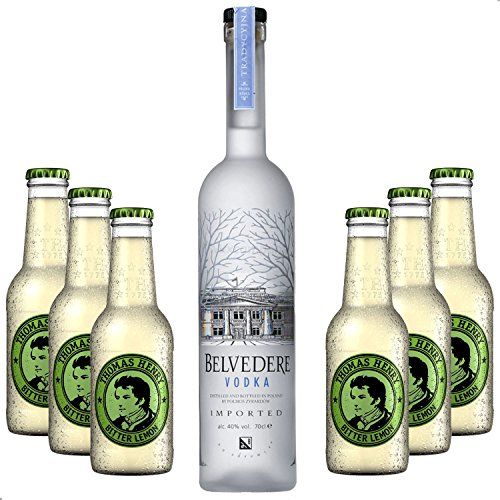 Vodka Lemon Set - Belvedere Vodka 0,7l 700ml (40% Vol) + 6x Thomas Henry Bitter Lemon 200ml - Inkl. Pfand MEHRWEG von Thomas Henry-Thomas Henry