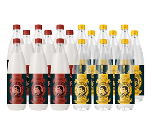 18 Flaschen a 1 L inc. Pfand Thomas Henry (Mix Tonic Water und Spicy Ginger) von Thomas Henry