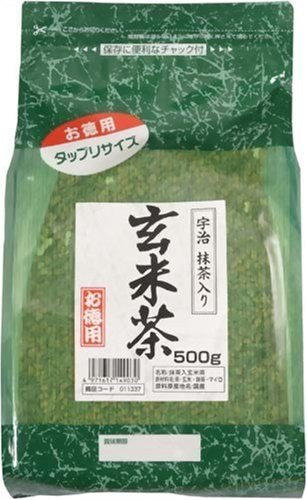 Tokyo Matcha Selection Tea - VALUE: Kunitaro tea : Genmaicha Traditonal Japanese Blended Tea with Matcha 500g Value Price & Extra Volume from Japan [Standard ship by SAL: NO tracking number] von Tokyo Matcha Selection