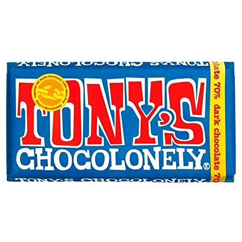 TONY's CHOCOLONELY | Dark Chocolate 70% | 5 x 180g (DE) von Tony's Chocolonely